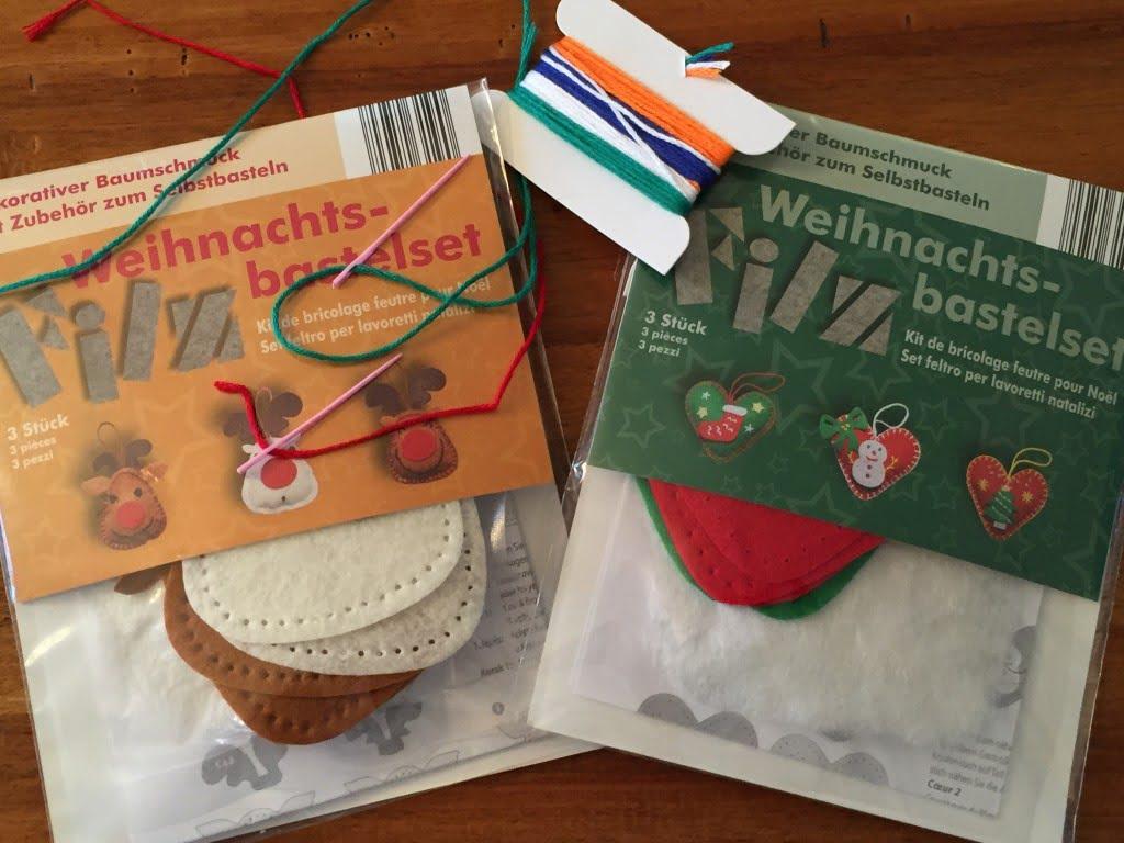 Einfaches Nähen mit Kindern: Weihnachtsschmuck aus Filz