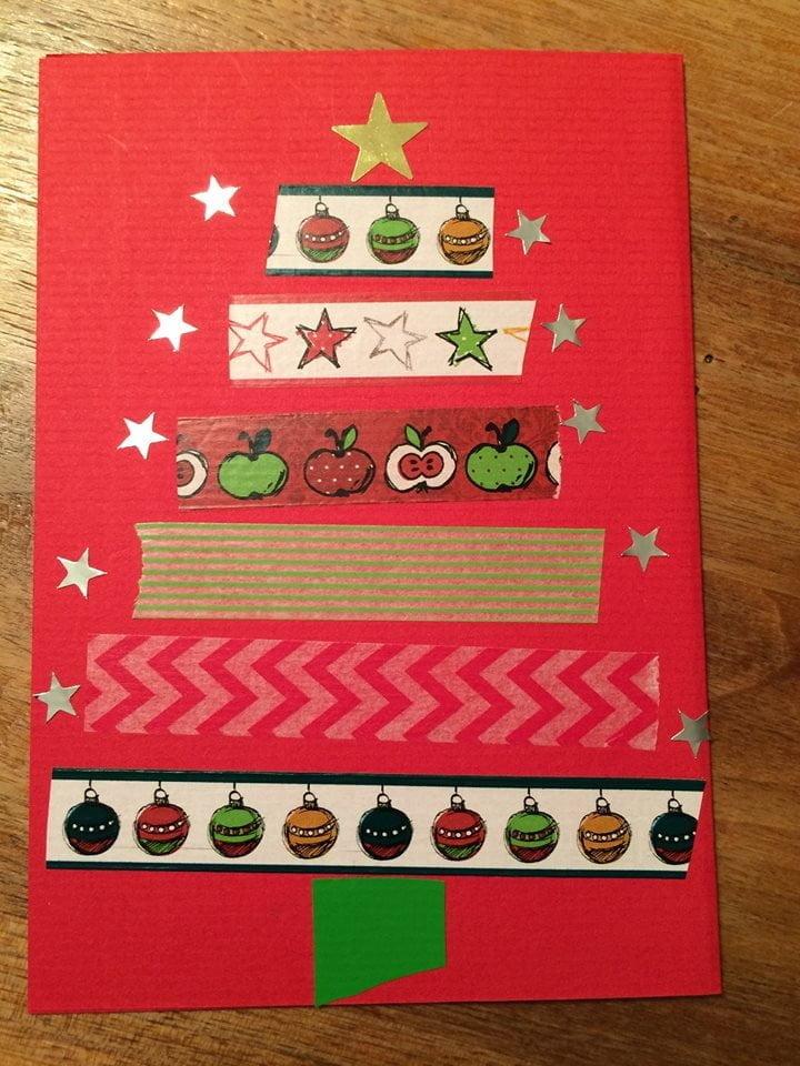 Weihnachtskarten mit Washi-Tapes gestalten