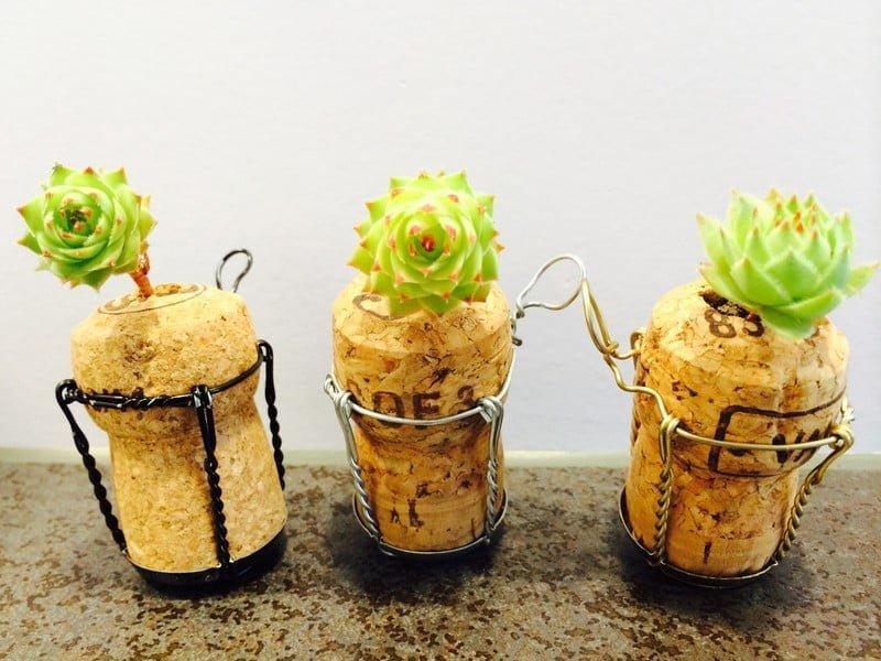 Upcycling - Mini Korken-Garten