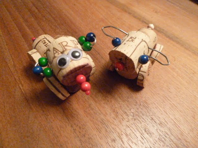 Recycling Basteln - Tiere aus Korken
