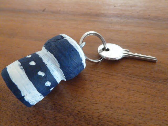 Schlüsselanhänger aus Korken