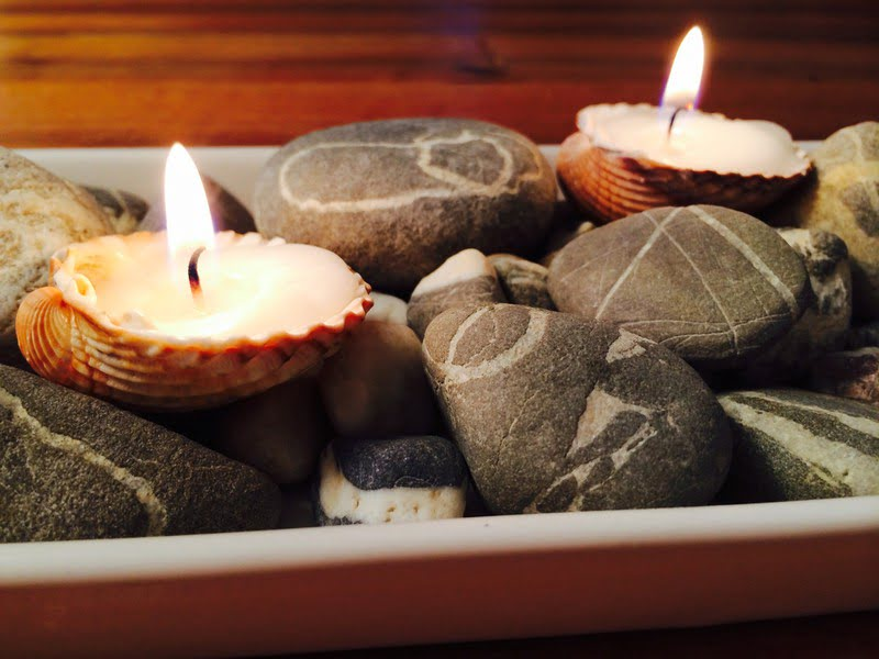 Kerzen aus Muscheln selber machen