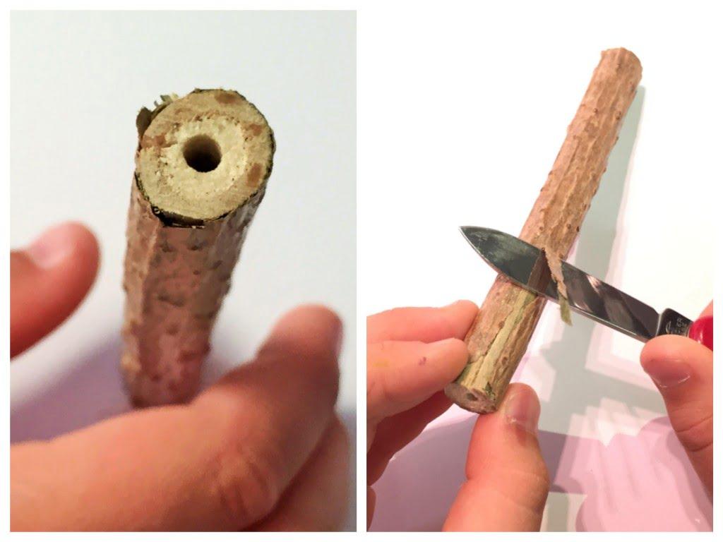 mit natursch tzen basteln ein kugelschreiber aus holunderholz die angelones der ehrliche. Black Bedroom Furniture Sets. Home Design Ideas