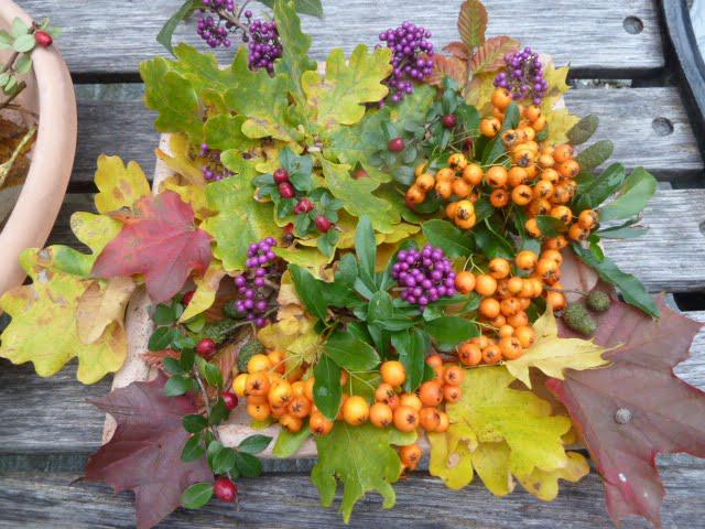 Herbst Dekoration Natur