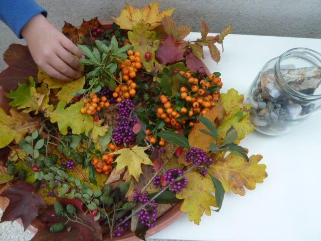 Herbst Deko aus Wald und Wiesenschätzen  Die Angelones