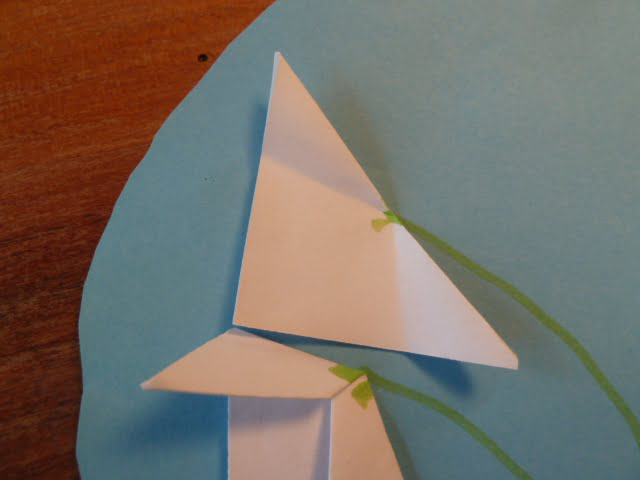 Schneeglöckchen aus Papier falzen