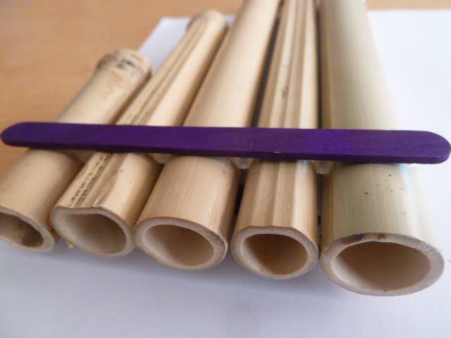 Recykling Basteln Panfloten Aus Trinkhalmen Und Bambusrohren