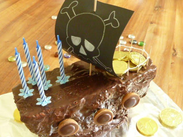 Kindergeburtstag Kuchen für die Piraten-Party