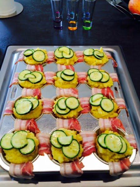 Zucchini-Polenta-Chüechli