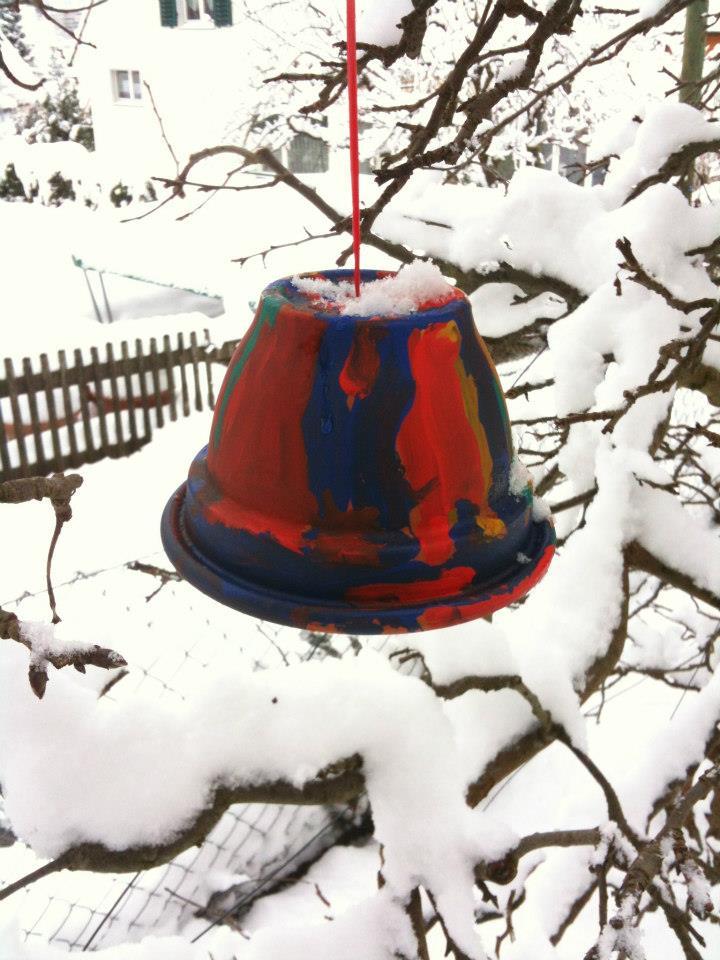 Januarkälte - Zeit, die Vögel zu füttern